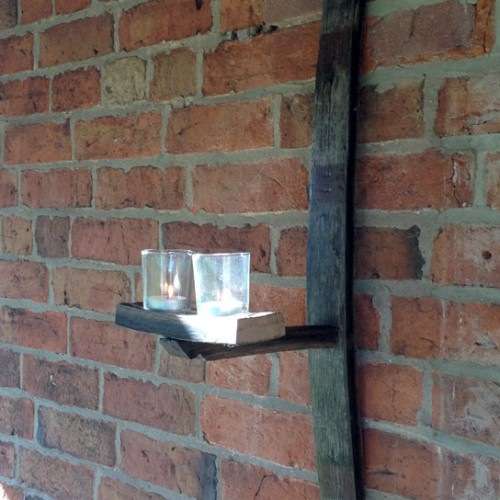 Double candle stave sconce