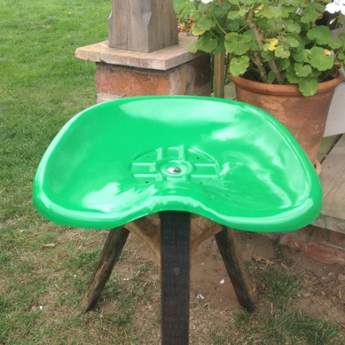 Tractor stool green